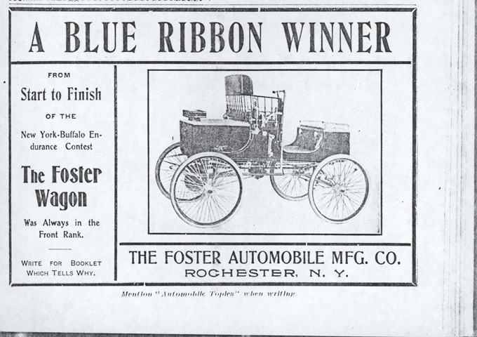 Foster Automobile Manufacturing Company, Rochester, NY Magazine Advertisement, January 18, 1903, Automobile Topics, Photocopy, John A. Conde Collection