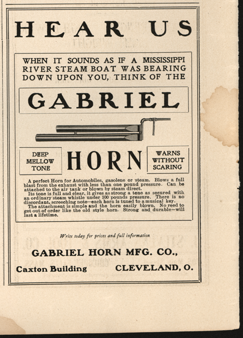 Gabriel Horn Manufacturing Company Magazine Advertisement