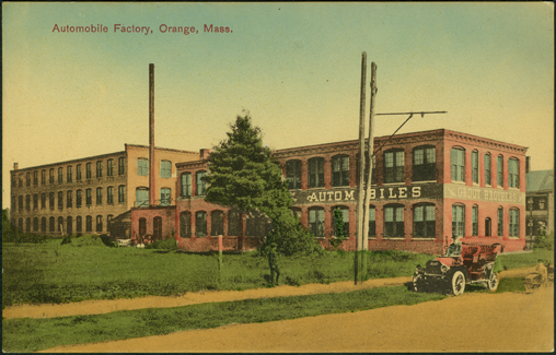 Grout Brothers Automobile Company Factory, Post Card, ca: 1907 - 1909, Front