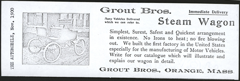Grout Brothers, The Automobile, November 1900, Photocopy, Conde Collection.