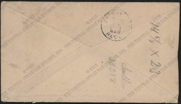 Grout Brothers Advertising Cover, March 6, 1903, Contract Envelope, Reverse