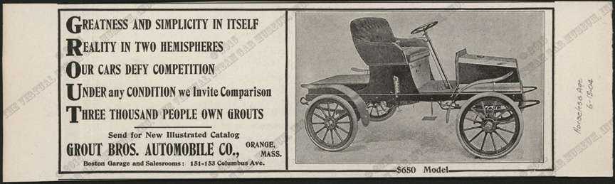 Grout Brothers Automobile Company