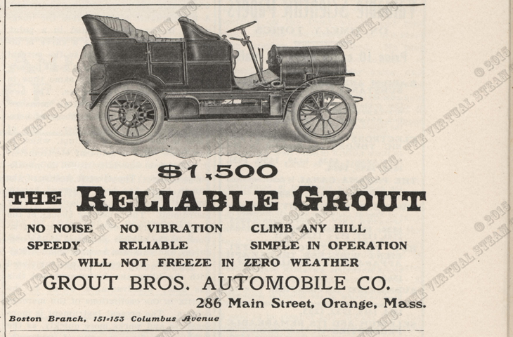 Grout Brothers Automobile Company, Scientific American, January 28, 1905, p. 81