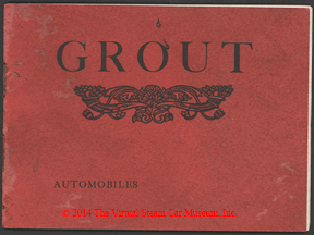 Grout Brothers Automobile Company, 1901 Pan-American Edition Trade Catalogue