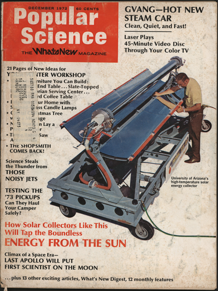 GVANG Steam Car, Gene Van Grecken, Popular Science, December 1972.