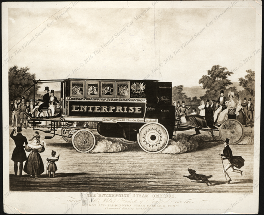 Hancock's Enterprise Steam Omnibus, ca: 1833, Brown Brothers Photograph, Front