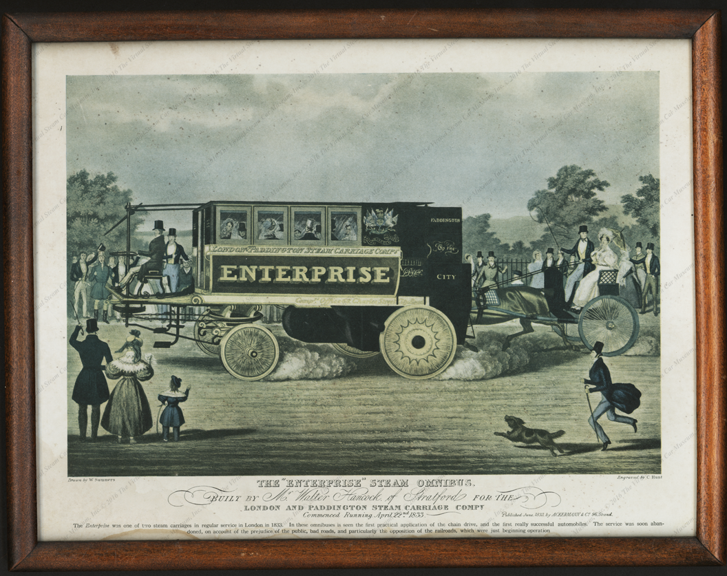 Walter Hancock, The Enterprise Steam Omnibus, 1833 Print, Reproduction