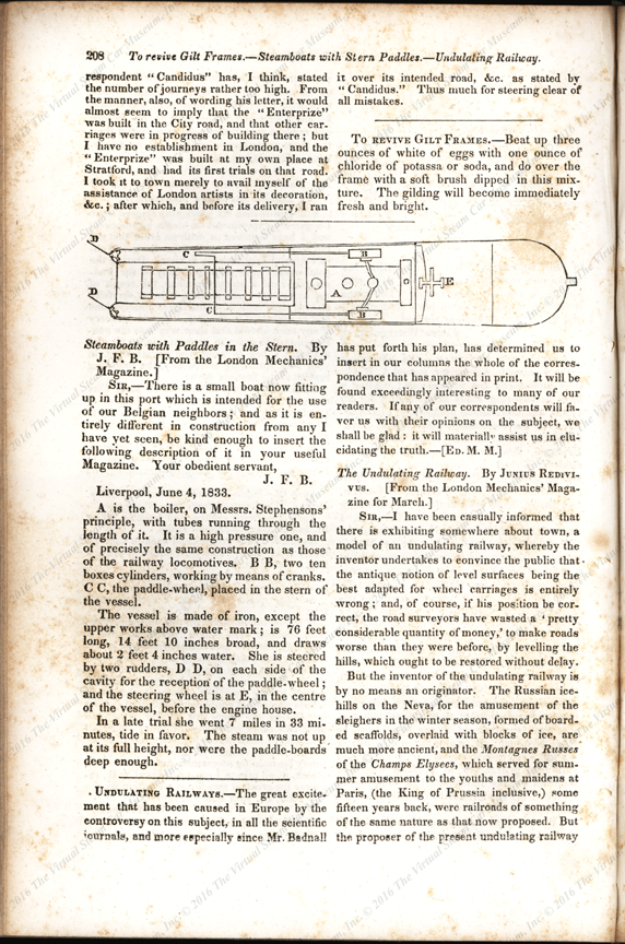 Mr. Hancock's Steam Omnibus, London Mechanics' Magazine, p. 2078