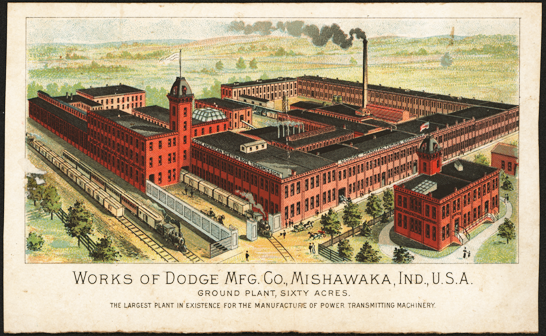 Dodge Manufacturing Company, Mishawaka, IN Trade Card, Front