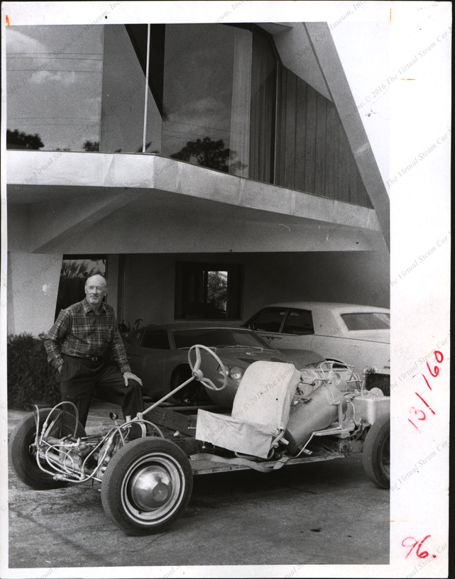 Robert Hyde Steam Car, 1971, Press Photograph, Front