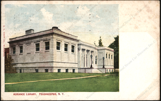Johnson Service Company, Advertising Postcard for public building HVAC, October 8,1909
