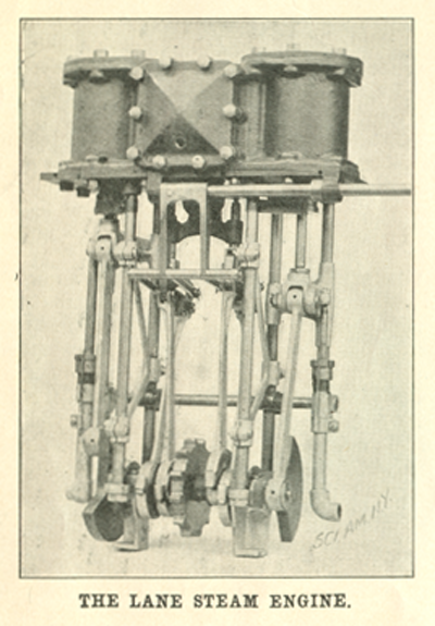 Lane Motor Carriage Company, Scientific American, March 1, 1902, p. 138a  Engine Illustration