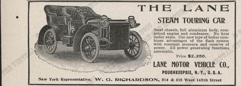 Lane Motor Vehicle Company advertisement, Horseless Age, January 10, 1906, Vol. 17, No. 2, P. LIV.