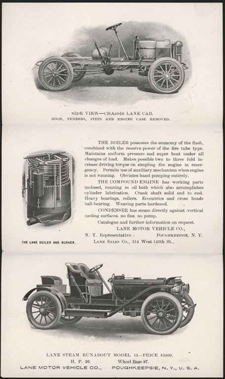 Lane Motor Vehicle Company Trade Catalogue 1907 Conde Collection Reverse