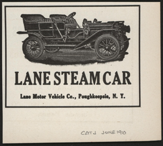 Lane Motor Vehicle Company, Magazine Advertisement, June 1910, Cycle and Automobile Trade Journal, Conde Collection