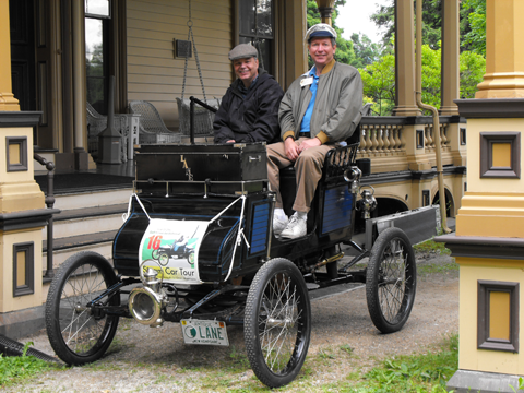 Arthur Eldredge and Don Hoke on 2008 Steam Tour Vermont