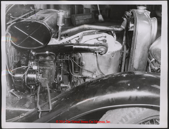 Duncan MacDonald Steam Car, Los Angeles, CA, January 27, 1936, Press Photograph, Front