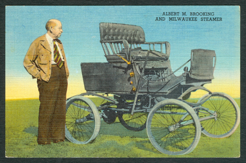 Milwaukee Automobile Company, Albert M. Brooking, Postcard, Front