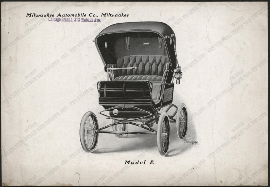Milwaukee Automobile Company, Advertising Image, 1900 - 1902, Chicago Agent, Conde Collection, Model E