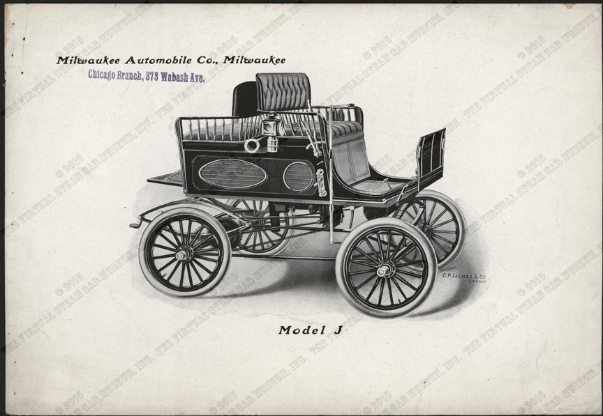 Milwaukee Automobile Company, Advertising Image, 1900 - 1902, Chicago Agent, Conde Collection, Model J