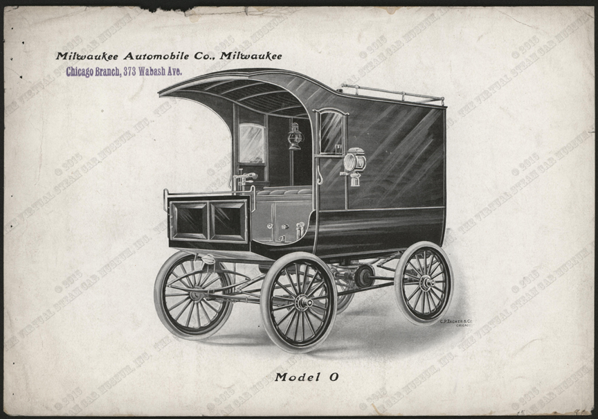 Milwaukee Automobile Company, Advertising Image, 1900 - 1902, Chicago Agent, Conde Collection, Model O