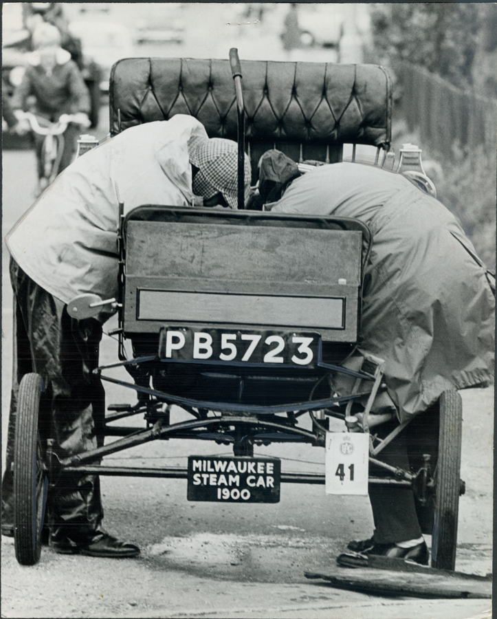 Milwaukee Automobile Company Steam Car Press Photo, November 19, 1968 Front