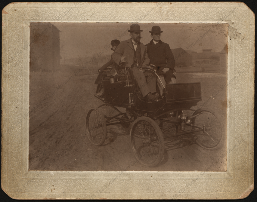 Milwaukee Automobile Company Steam Car, ca: 1898, Photograph C. F. Mears and Roy Mears, Silver City, IA Front