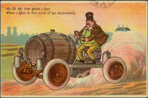 Milwaukee Steamer Comic Postcard