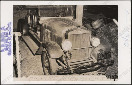 American Steam Automobile Company, Empire Steam Car, G. W. Nichols Collection, Harry McGee Postcard, Front