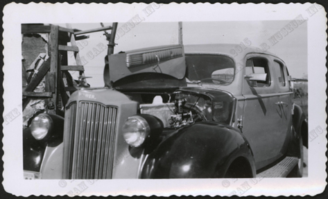1939 Packard Steam Car, Bughley Tractor Service, Beach, ND, Photograph, C. W. Nichols Collection, H. W. McGee Photograph