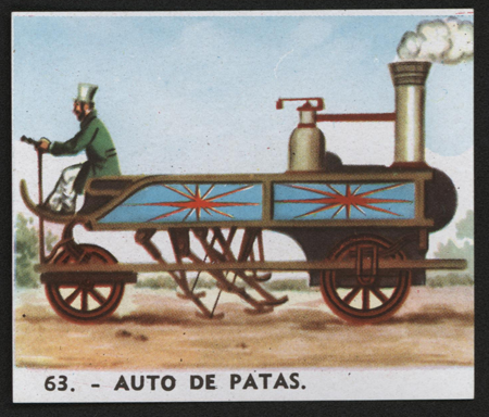 Patas Steam Carriage, Bubble Gum Card