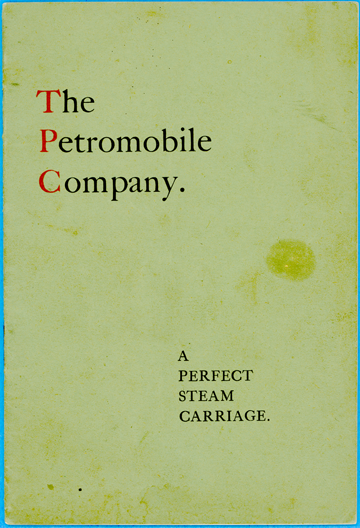 Petromobile Company, A Perfect Steam Carriage