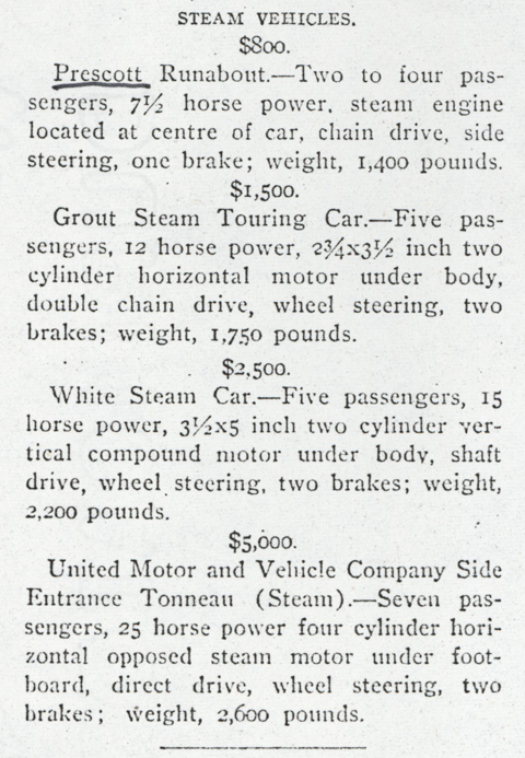 Prescott Automobile Manufacturing Company, Horseless Age, January 15, 1905, p. 61, Conde Collection.