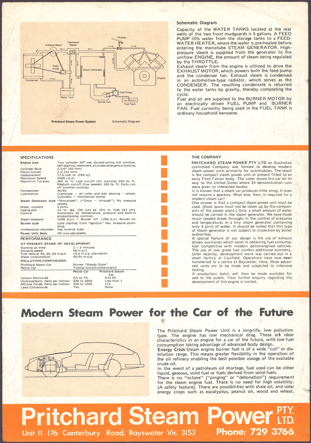 Pritchard Steam Power Pty. Ltd. Brochure