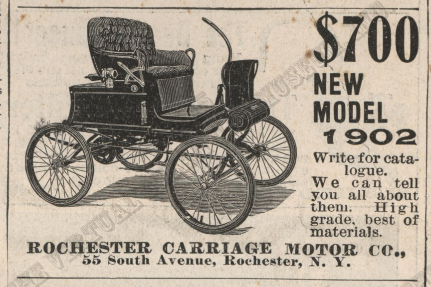 Rochester Carriage Motor Company, Scientific American Magazine Advertisement, May 17, 1902, p. 358.