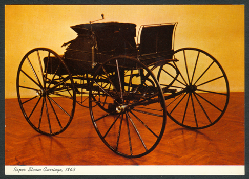 Sylvester Roper Steam Carriage, 1863, Henry Ford Museum Postcard, Front