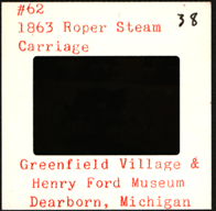 Roper Steam Carriage Color Slide Greenfield Village