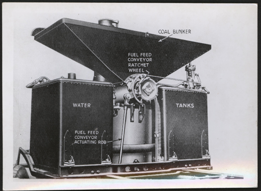 Sentinel Waggon Works Photograph, Coal Feeding Mechanism for Steam Trucks, ca: 1945 - 1950