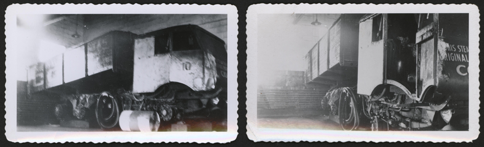 Two Photographs of a Sentinel Steam Wagon, Location Unknown, ca: 1945 - 1950, Steam Car Associates