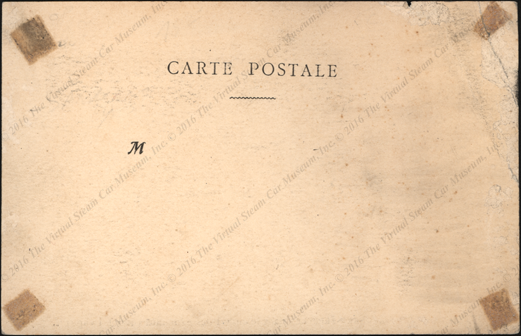 Garderner-Serpolle Race Car,  French Post Card Reverse