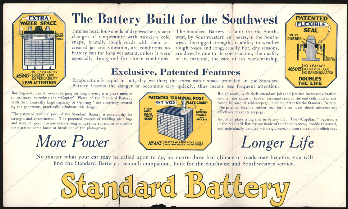 Standard Battery Manufacturing Company Trade Catalogue