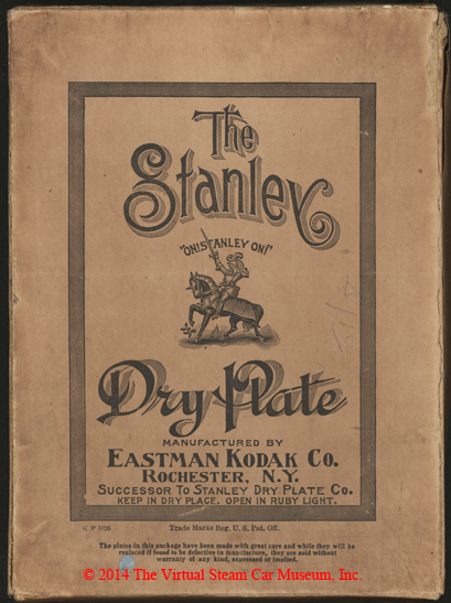 Stanley Dry Plate Company box, Rochester, NY. ca: 1904 - 1910