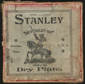 "Stanley Dry Plate Company, Newton, MA, ca: 1890, 3 1/2"" plates, front"