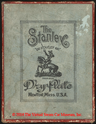 Stanley Dry Plate Company box, Newton, MA, ca: 1885 front