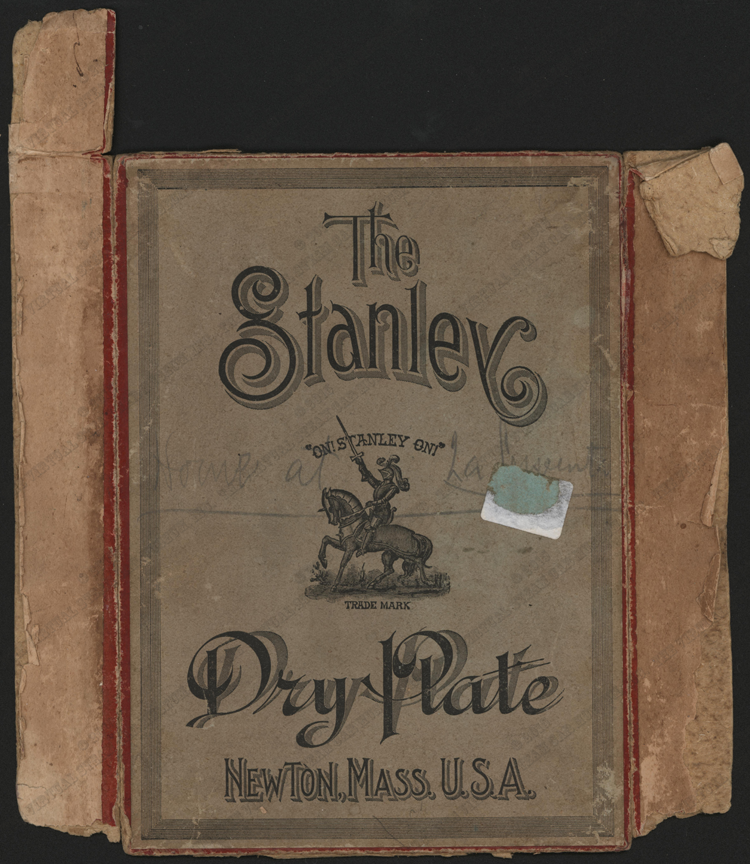 Stanley Dry Plate Negative Box, Newton, MA