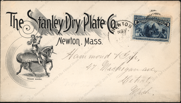 Stanley Dry Plate, Newton, MA Advertising Cover 1894, Front