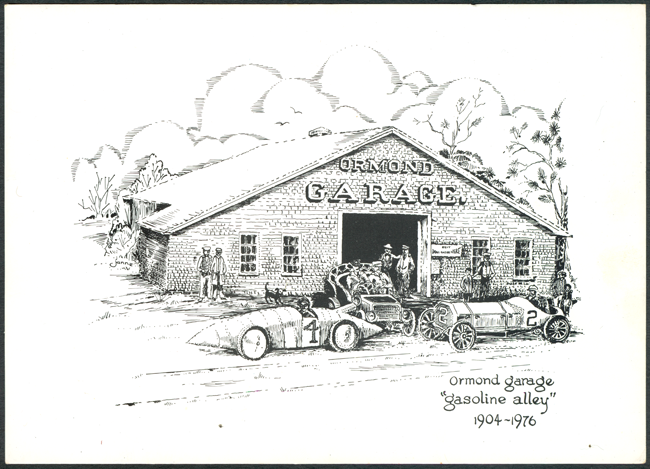 1976 Oversized Postcard Ormond Garage