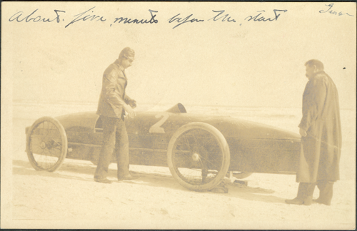 Fred Marriott and The Rocket prior to 1907 Crash