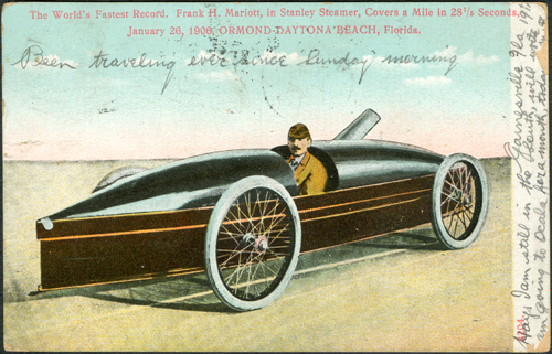 Fred Marriott Postcard February 19, 1907