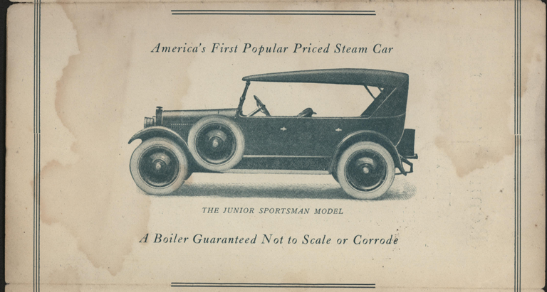 Steam Car Corporation of California, Trade Catalogue, Remal-Vincent Steam Car, 1923